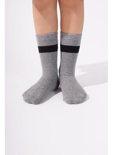 Katia & Bony Ponpon Çocuk Soket Çorap  Antrasit